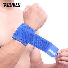AOLIKES 1 шт., регулируемый браслет для поддержки запястья, брендовый браслет для мужчин и женщин, для тренажерного зала, борется, профессиональная спортивная защита запястья