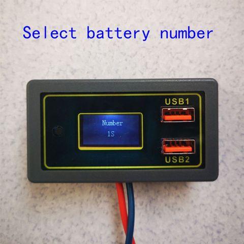 Medidor de Tensão Usb para Dc12v Display Digital Voltímetro Bateria Tester Dupla Carro Mod. 182632