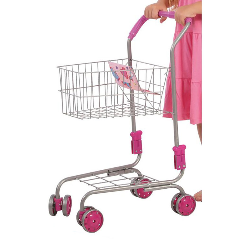 Genuine Mini Children Handcart Simulation Small Supermarket Shopping Cart Utility Cart Pretend Play Toys Strollers Kids Gift