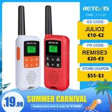 Retevis RT649B RT49B 워키 토키 2 또는 4 개 PMR446 워키 토키 1.8km 모토로라 양방향 라디오 사냥용 USB 충전 VOX
