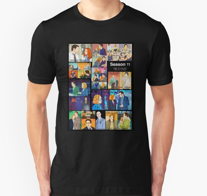 Print Men Tshirt The X Files Season 11 All The Episodes More 70 Designs Xfiles In My Shop T Shirt Women T-Shirt Tees Top Graphic image