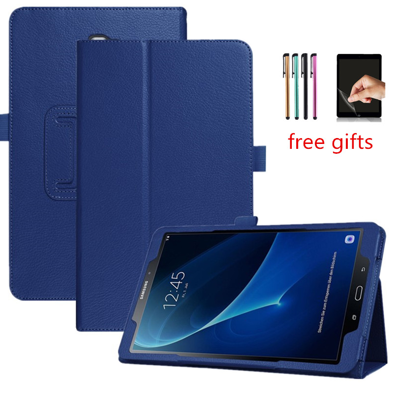Tablet Stand Case For Samsung Galaxy Tab A 10.5 SM T595 T590 2018 Leather Flip Cover For Samsung Tab A 10.5 Inch Case+Film+Pen