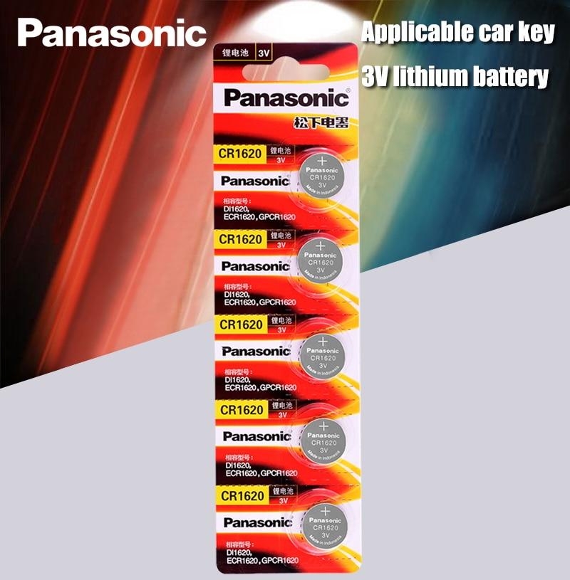 Panasonic оригинальный продукт 5 шт./лот cr1620 кнопочные элементы батареи для часов 3 В литиевая батарея CR 1620 пульт дистанционного управления кальк...