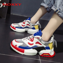 2019 New Fashion Chunky Sneakers Women Shoes Casual Dad Platform Thick Sole Ugly Vintage chaussures femme