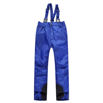 Children's Outdoor Ski Pants Trousers Wind-Resistant Warm Boys Girls Pants Anti-cold Pants