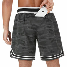 Erkek moda şort açık koşu fitness pantolonları rahat çabuk kuruyan spor pantolon dahili cep marka erkek şort