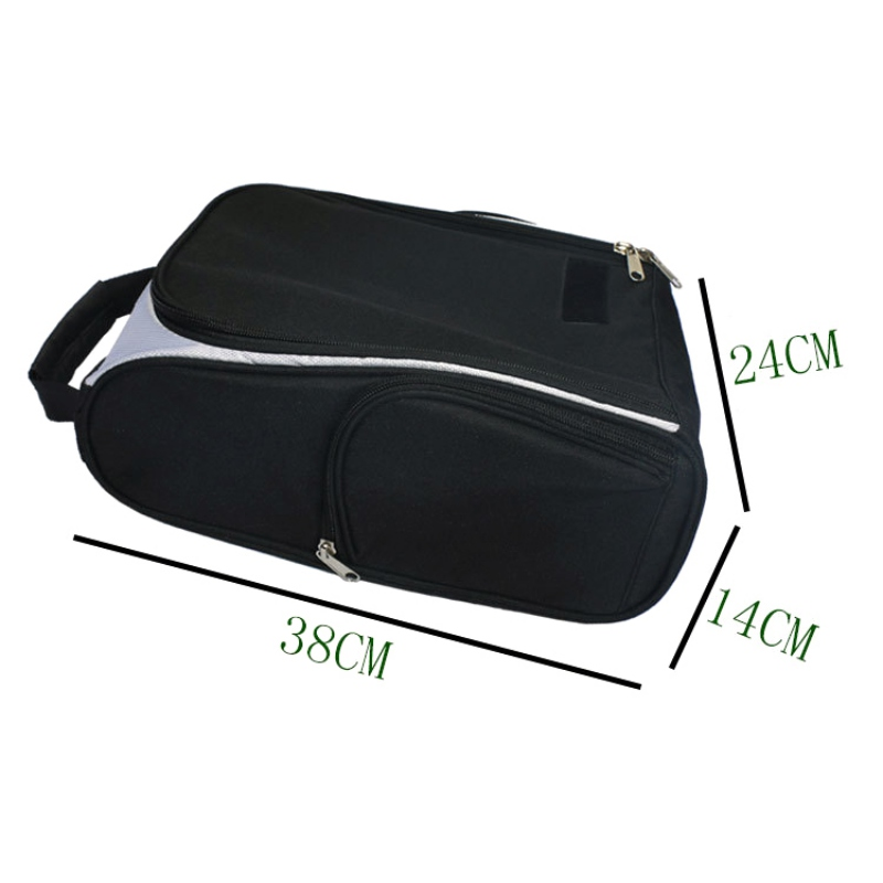 Outdoor Golf Shoe Bag Shoe Carrier Tote Bag With Side Pockets For Golf Balls Tees And Other Accessories