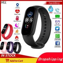 2021 nova pulseira de fitness m5 feminino pulseiras inteligentes homens relógio inteligente pedômetro m5 pulseira esporte relógios m5 banda para adriod ios