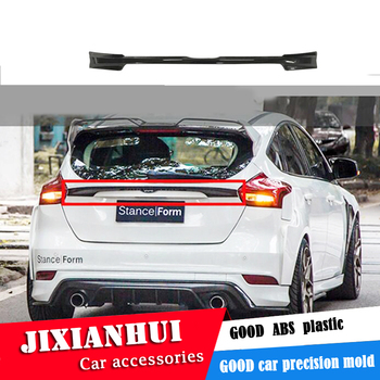 For Focus ROOF Spoiler 2012-2016 F ord Focus Hatchback FSK1 Spoiler ABS plastic Material Car Rear Wing Color Rear Spoiler