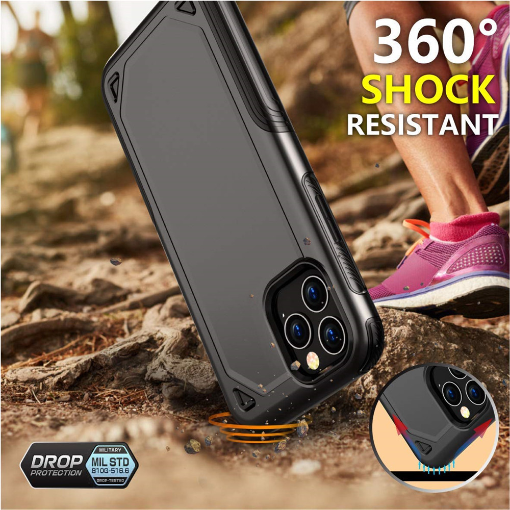 Military Shockproof Armor Phone Case For iPhone X XS 11 Pro Max XR 7 8 6 Military Shockproof Armor Phone Case For iPhone X XS 11 Pro Max XR 7 8 6 6S Plus Hybrid PC+TPU Slim Rugged Protective Case Cover