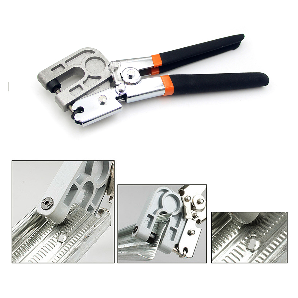 Keel Clip Metal Studs Nailless Crimper Plaster Board Drywall Pliers For Fastening Metal Industrial Stud tool Crimper Plier Tool