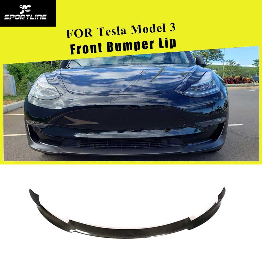 Parachoques delantero de fibra de carbono para Tesla, sedán de largo alcance, 4 puertas, 2016 - 2018