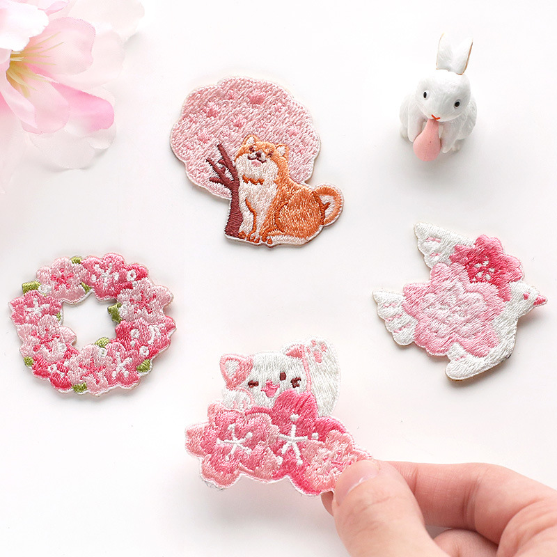 Lovely Pink Sakura And Friends Theme Kawaii Cloth Sticky Sticker DIY Decoration Gift 2020 New