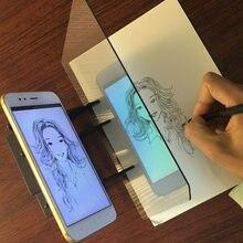 Crianças led projeção desenho placa de cópia projetor pintura tracing board esboço especular reflexão escurecimento suporte