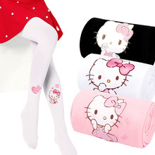 Summer Thin Velvet Tights For Girls Cute Cat Cartoon Children Pantyhose Elastic Kids