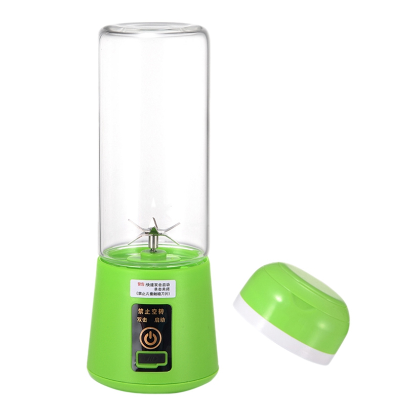420Ml-600mL Portable Juice Blender Usb Juicer Cup Multi-Function Fruit Mixer 4 Blade Mixing Machine Smoothies Baby Food Green image