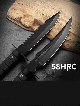 Multifunctional pocket knife portable straight knife Swiss army knife field survival high hardness straight knife with sheath 3