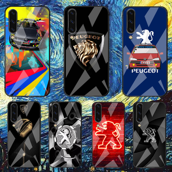 France Peugeots Car Phone Glass Tempered Case Cover For Samsung Galaxy A 3 5 7 10 20 20E 21S 30 30S 40 50 51 70 71 S Shell