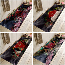 Christmas Mat Chirstmas Tree Hallway Carpets Christmas Party Rugs Carpets For Kitchen Bathroom Anti-Slip Floor Mats