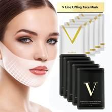 Cara elevación máscara en forma de V mascarilla de adelgazamiento doble mentón reducir levantar vendaje línea Facial arrugas removedor de herramienta de cuidado de la piel/1/2/5/10 Uds