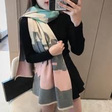 Femme cachemire écharpe femmes mode essentiels de luxe chaud automne hiver châle couverture pour emmailloter couleur couture Tippet Pashmina