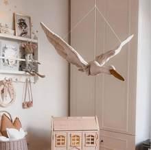 Kinder Zimmer Dekor Plüsch Tier Kopf Schwan Wand Hause Dekoration Baby Plüschtiere Mädchen Hause Schlafzimmer Zubehör Mädchen Kind Geschenk
