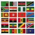 3D флаг Африки, Египет, Кения, Алжир, Нигерия, Ангола, Тунис, Марокко, Судан, Мальта, Намибия, Гана, Мозамбикские флаги, вышитые нашивки