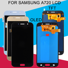 Catteny Replacement A7 2017 Display For Samsung Galaxy A720 LCD Touch Screen Digitizer Assembly A720F SM-A720 Lcd Free Shipping replacement touch screen digitizer for samsung galaxy mega 6 3 i527 i9200 i9205 lcd screen blue free shipping