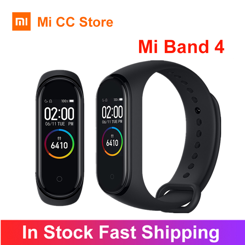 Xiaomi Mi Band 4 Bracelet Heart Rate Fitness Tracker Bluetooth5 0  Sport Waterproof 3 Color AMOLED Screen Smart Band