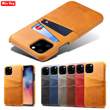 Fundas For iPhone 11 Pro Max 2019 X XR 7 Case Leather Ultra Thin Cover With Card Pocket Capa For iPhone 8 6 6S Plus XS Max Coque new for iphone 11 pro max case xs max xr for iphone x 6 7 8 plus 6s luxury vintage pu leather back ultra thin case cover coque