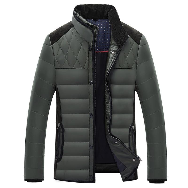 Duck White 90% Down Jacket Winter Coat Men Puffer Jacket Men Short Slim Parka Down Jacket Doudoune Homme 004 YY1343