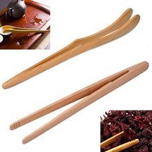 1 шт. 18 см бекон чай посуда сахар бамбук Салат Щипцы Kongfu чай деревянный чай клип еда тост чай Пинцет#63