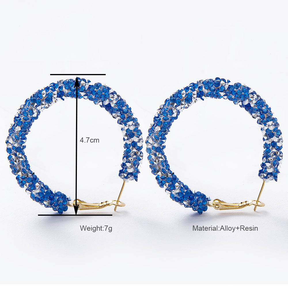 2019 Fashion Rhinestone Hoop Earrings Gold Charm Shiny Circle Crystal Stone Pearl Statement Big Hoop Earrings for Women Jewelry