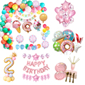 Candy Pink Theme Disposable party tableware Pastel Balloon Garland Kit Arch Baby Shower Party Supplies Girl Birthday DIY Decor