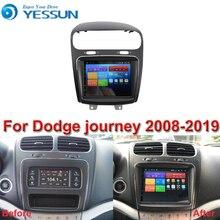 ل دودج رحلة 2008 2019 سيارة أندرويد مشغل وسائط متعددة راديو السيارة لتحديد المواقع والملاحة شاشة كبيرة مرآة الارتباط