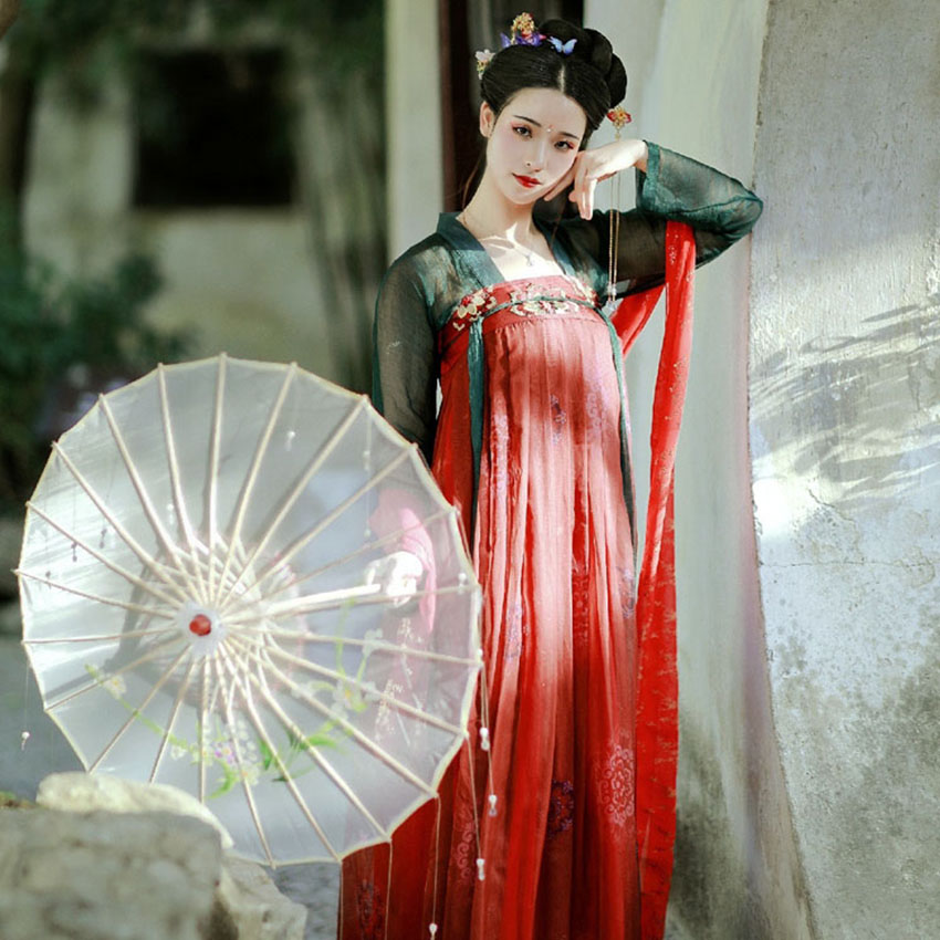 Tang Dynasty 2020 Hanfu Dress For Women Ancient Chinese Costume National Folk Dance Stage China Style Cosplay Festival Vestidos