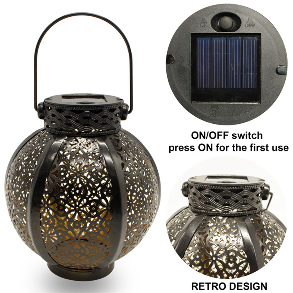 solar de metal oco movido a energia