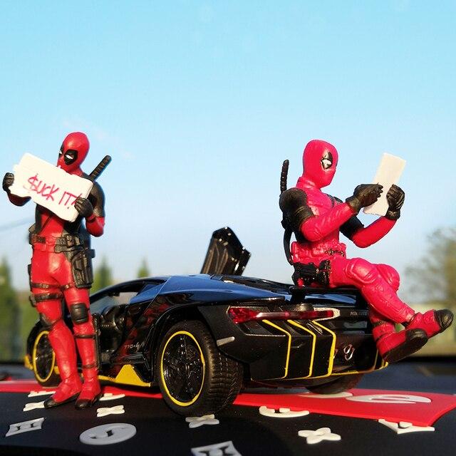 Автомобильное украшение интерьера Марвел, персональная аниме дэдпул, экшн мини-кукла для автомобильных товаров, аксессуары для интерьера автомобиля, украшение 4