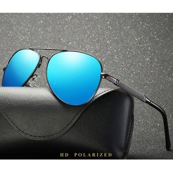 2020 Driving Glasses Polarized Men Sunglasses UV400 Blue Mirror Male Glasses For Men With Box