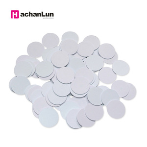 Image 1 - 5pcs RFID Nfc Tag Changeable UID 1k Stickers with Block 0 Mutable Writable for S50 Mf1 13.56Mhz Nfc Card Clone Crack Hack