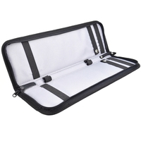 Men'S Lightweight Black Nylon Tie Organizer With Zipper Little Tie Case Fashion Tie Storage Luggage Travel Bags