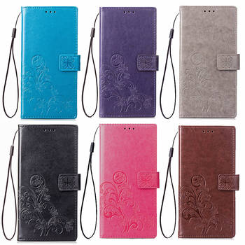 3D Flower Leather Case for Huawei Y5 2019 Lite Prime 2018 Y6 2017 Y6 Y7 Y9 2016 2015 Y6 Pro 2019 Flip Phone Cases Cover Wallet image