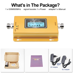 Image 5 - Cost effective  LCD Display GSM 900MHz Signal Repeater GSM Signal Booster 20dbm LCD Display Cell Phone Signal Booster Amplifier