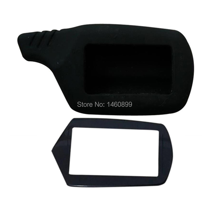Keychain Glass Cover + Silicone Case For 2-way Car Alarm System Starline A91 A61 B9 B6 Lcd Remote Control
