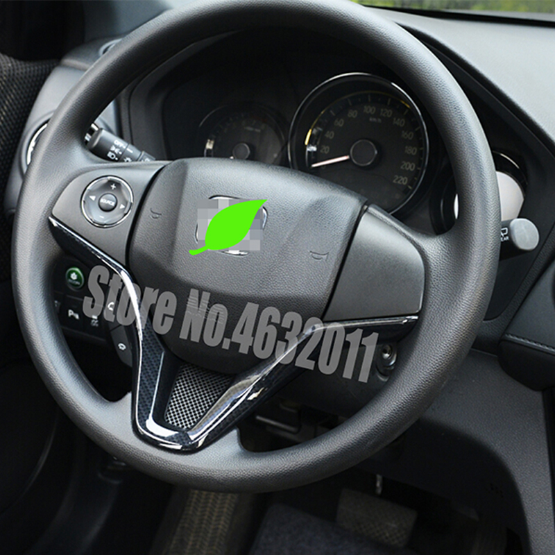 For Honda HR-V HRV Vezel 2015 2016 2017 LHD C949 Carbon fiber Car Accessories Car Steering Wheel Cover trim inner Sticker