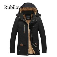Rubilove Jacket Men Winter Coat Military Jackets Men's Parka Clothing Thick Warm Windbreaker Overcoat Male Windproof