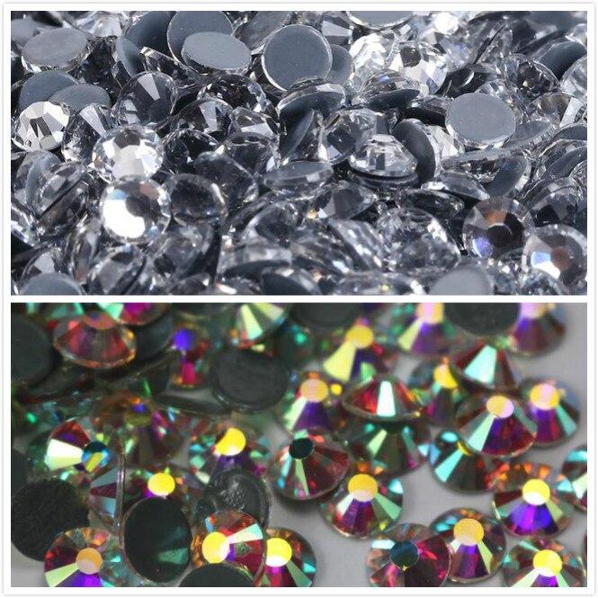 10 упак./лот качественный прозрачный кристалл AB Горячая фиксация Стразы супер яркое стекло стразы s для ткани одежды