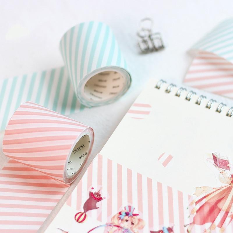 Basic Check Pattern Washi Tape 50mm Blue Green Pink Grid Stripe Adhesive Masking Tapes Write On Stickers Journal Album A6162