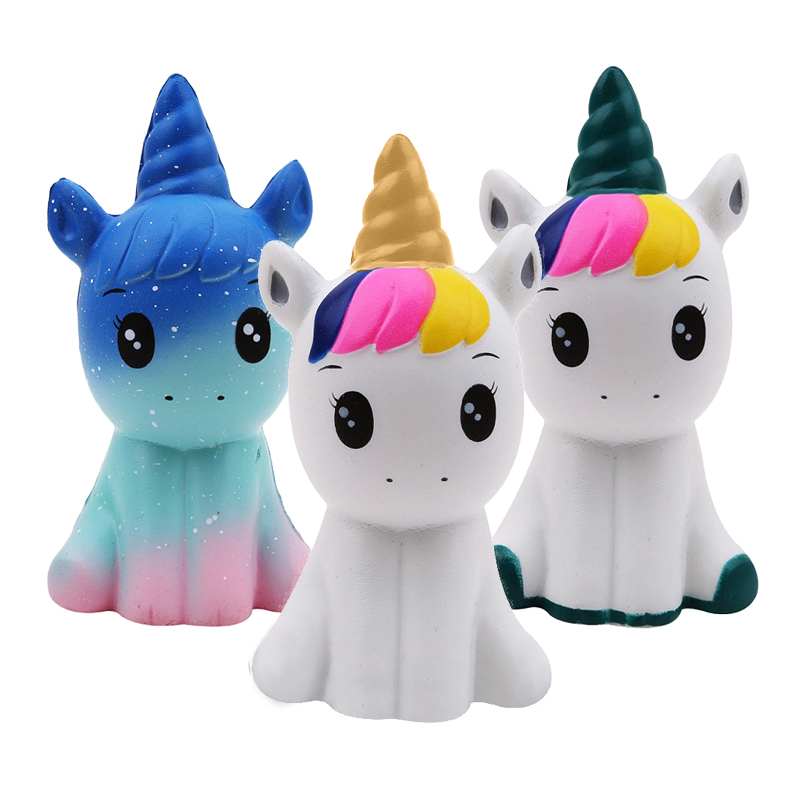 Galaxy Unicorn Squishy Jumbo Kawaii Squishies Cream Scented Slow Rising Relieve Stress Squeeze Toys Kid Gift