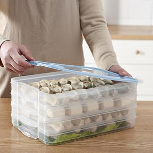 ATUCOHO Store Single Layer Dumpling Boxes Storage Tray Food Container Box To Keep Frozen Dumpling Storage Plastic Boxes Cool(China)